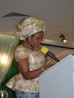 HE Mrs Obioma Liyel-Imoke delivers a Keynote Address