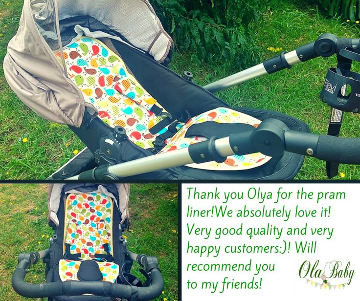 Love this custom made pram liner for Steelcraft Strider, very colorful <3