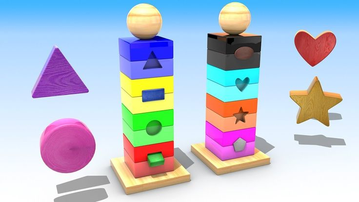 Learn shapes and Colors from Wooden Toys for Kids Toddlers Preschoolers ...