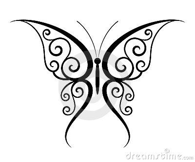 butterfly stencils printable | Butterfly Tattoo Photo | SpiderPic Royalty Free Stock Photos