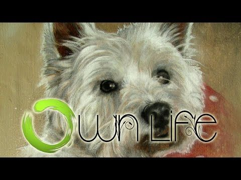 Speed Painting 'Charlie' - a West Highland White Terrier - YouTube
