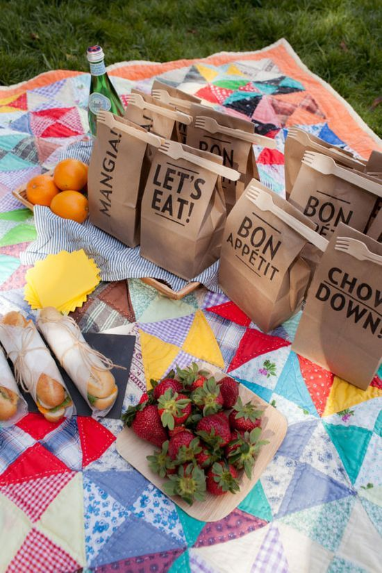 Clip-On Picnic Utensils | Oh Happy | http://summerpartyideas.blogspot.com
