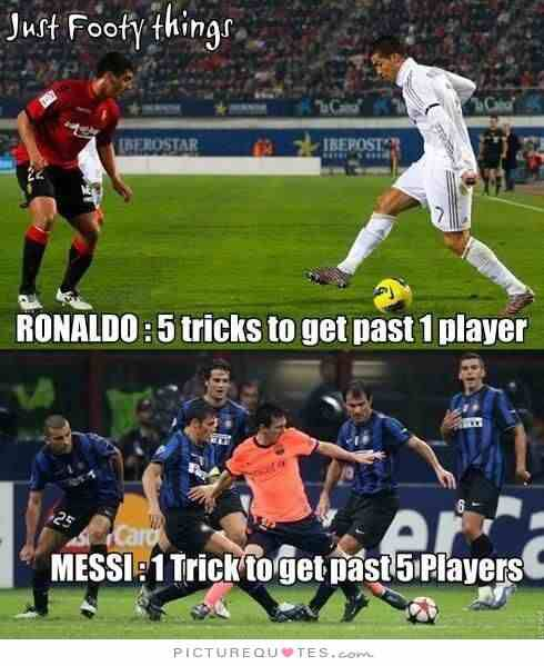 Ha. Thats why messi is the greatest