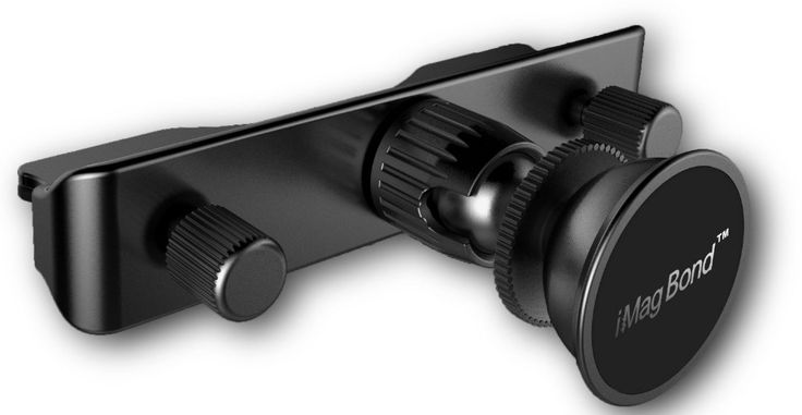 iMagBond Magnetic Phone Holder Stand CD Slot Magnetic Cradle-less Smartphone Car Mount Holder Aluminum for Phones