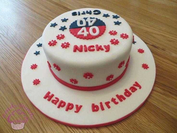40th birthday split cake for Nicky and Chris