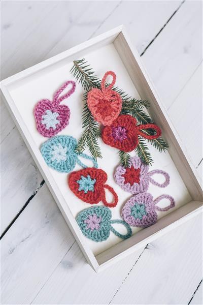 Tema 40: 32a Hjerte 5 cm #jul #strikk #christmas #knit