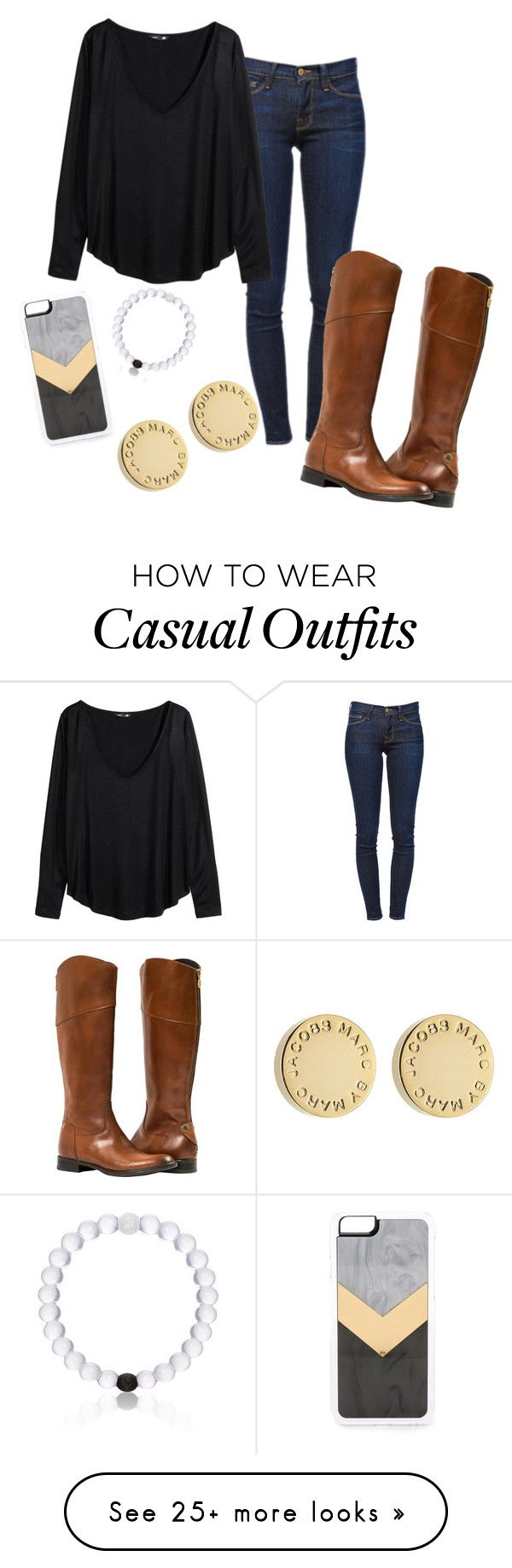"""""""Casual attire"""" by savystyle26 on Polyvore featuring Frame Denim, H&M, Zero Gravity, Everest and Marc by Marc Jacobs"""