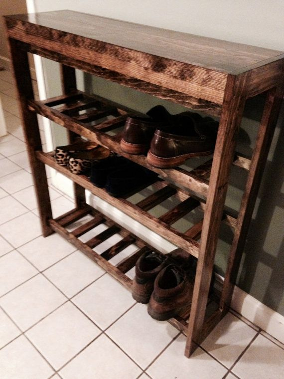 tabletop shoe rack by boscothedog on etsy