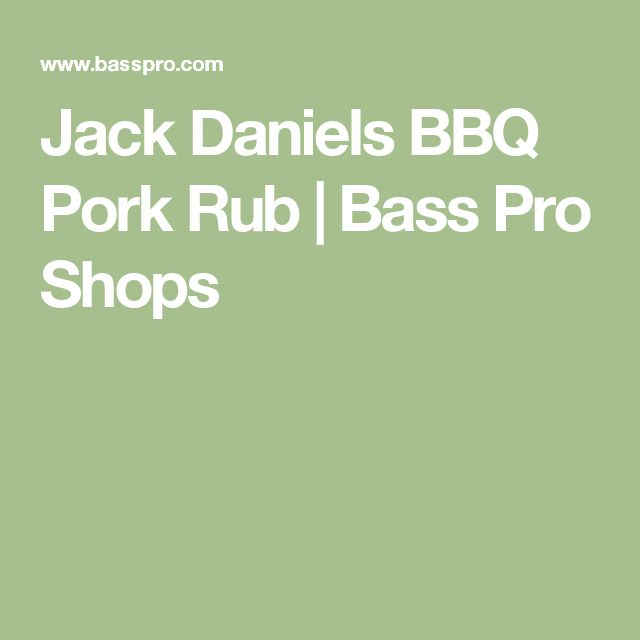 Jack Daniels BBQ Pork Rub | Bass Pro Shops