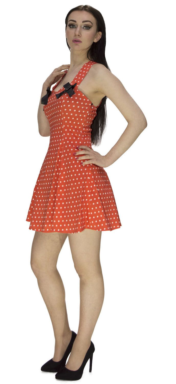 New York Fashion Week Orange Polka Dot Dress