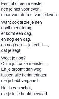 Gedichtjes van Geert de Kockere over het einde van het schooljaar en over afstuderen.: