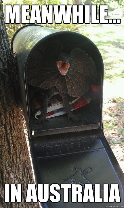 Meanwhile... In Australia.  Mail anyone?