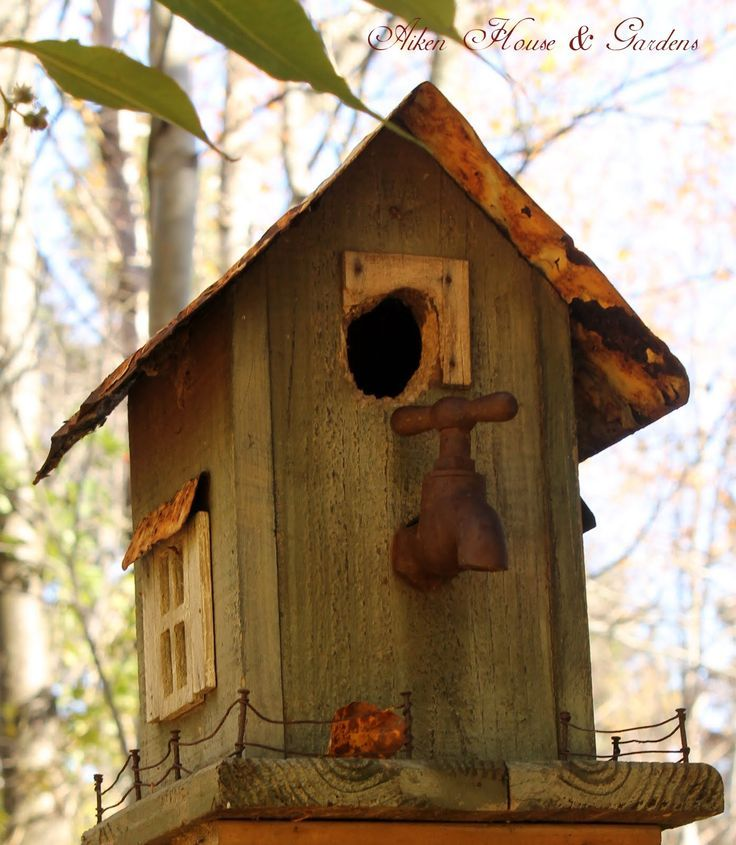 3128 Best Rustic Birdhouses Images On Pinterest Birdhouses Birdhouse Ideas And Rustic Birdhouses