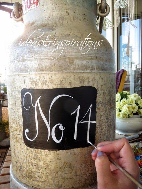 Ideas and Inspirations: Milchkanne * milk churn