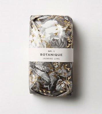 Beautiful Floral Print Soap Packaging Design