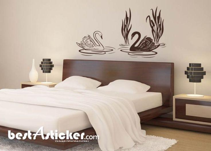 Kuğular Dekoratif Duvar Sticker   Fiyat: 56 TL
