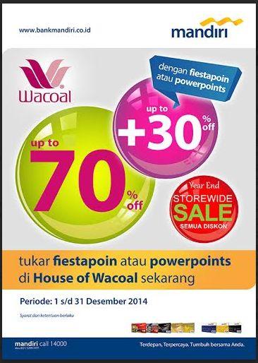 Year End Sale, Semua Diskon di Wacoal Periode 1-31 Desember 2014