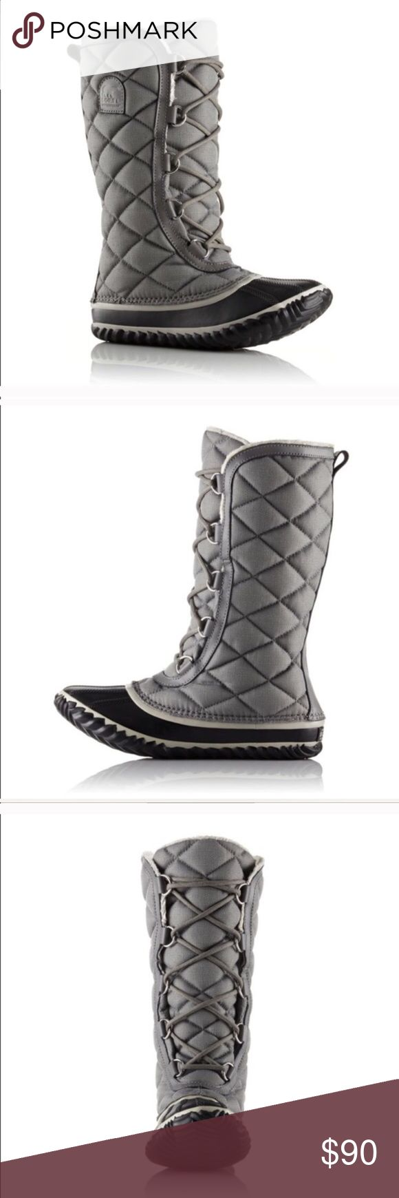 SOREL Outand about Boots NWT Full length quilting atop a handcrafted, vulcanized rubber sets this waterproof boot apart from any other. The microfleece lining is super soft and the heringbone sole gives extra traction. Size 12 C/D.Approx shaft height 11.5 in. 🍀 NO TRADES. 24 hour holds only. Please submit any offers via the Offer Button. I will NOT negotiate prices in comments. Happy Poshing! 🍀 Sorel Shoes Winter & Rain Boots