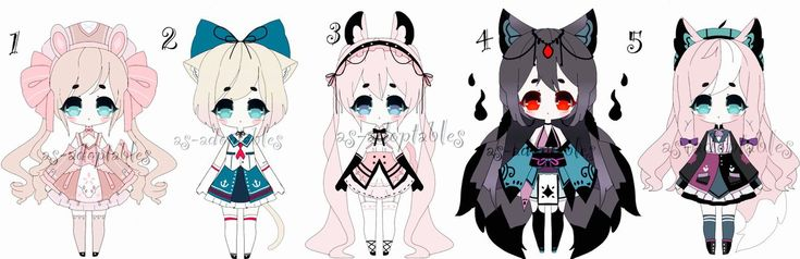 Lacey Princess Bun, Sailor Kitty, Pastel Pink Goth, Sarada, Dyed Bangs Tales   – Fashion Drawings