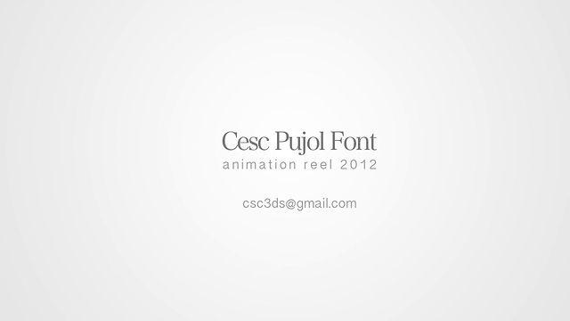 cesc pujol font, lovely reel