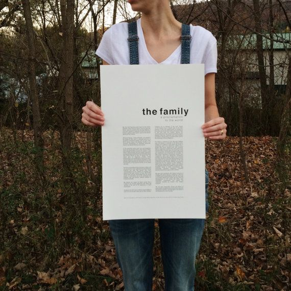 Family Proclamation Print