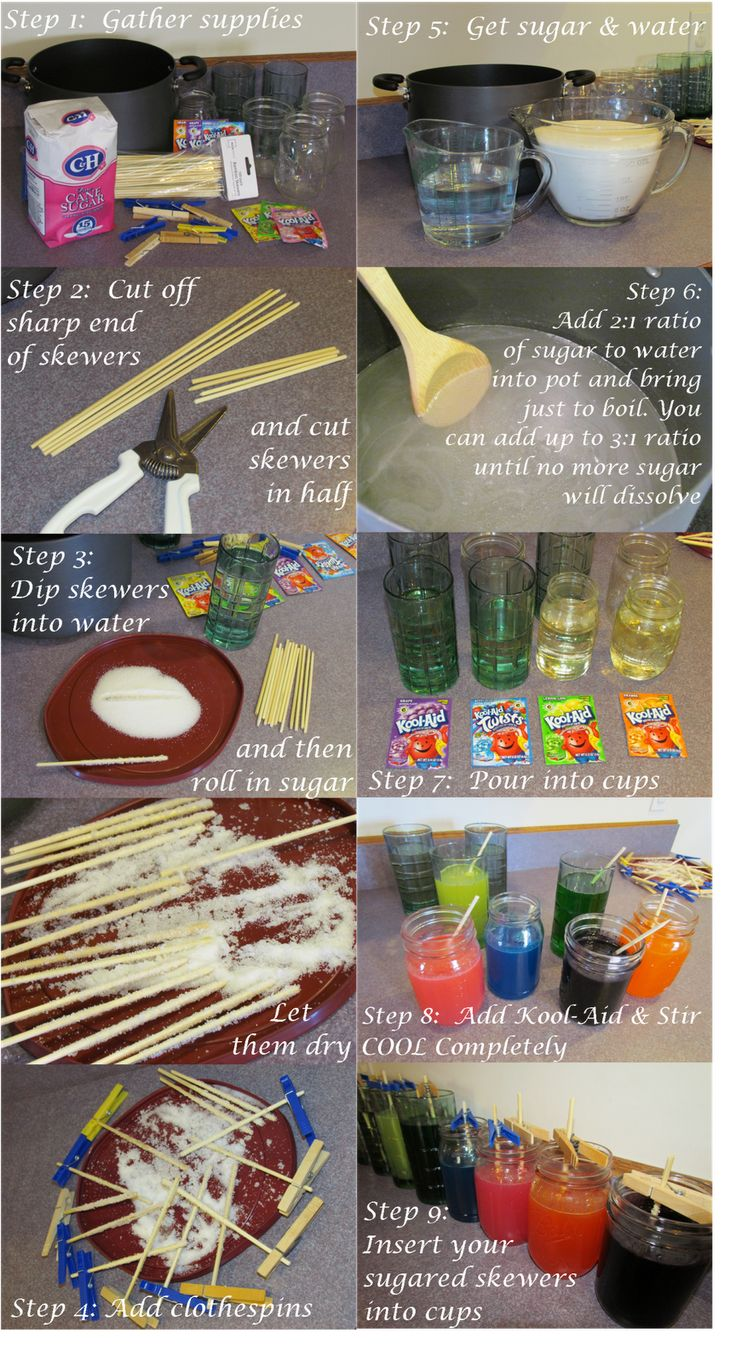 Party Crafting: How-to & How-not-to Make Rock Candy