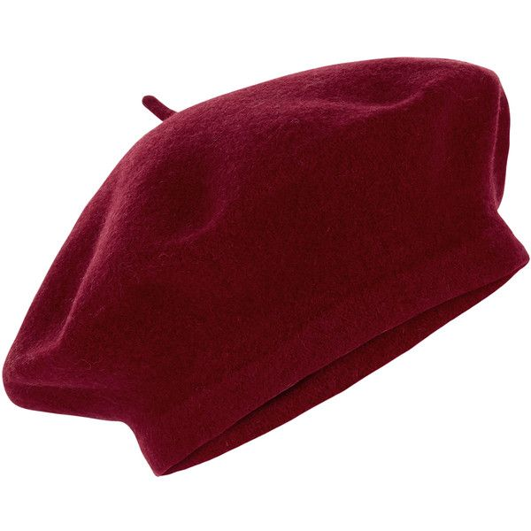 Accessorize Wool Beret (1.470 RUB) ❤ liked on Polyvore featuring accessories, hats, accessorize hats, woolen hat, crown hat, beret hat and wool beret
