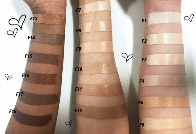 Makeup Revolution Foundation Swatches