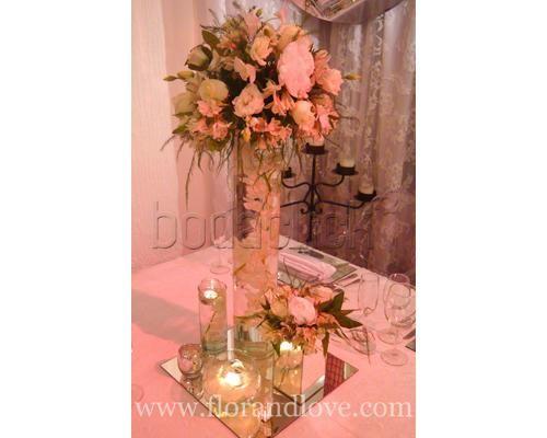 Clásico y sofisticado para la noche / centros de mesa para boda