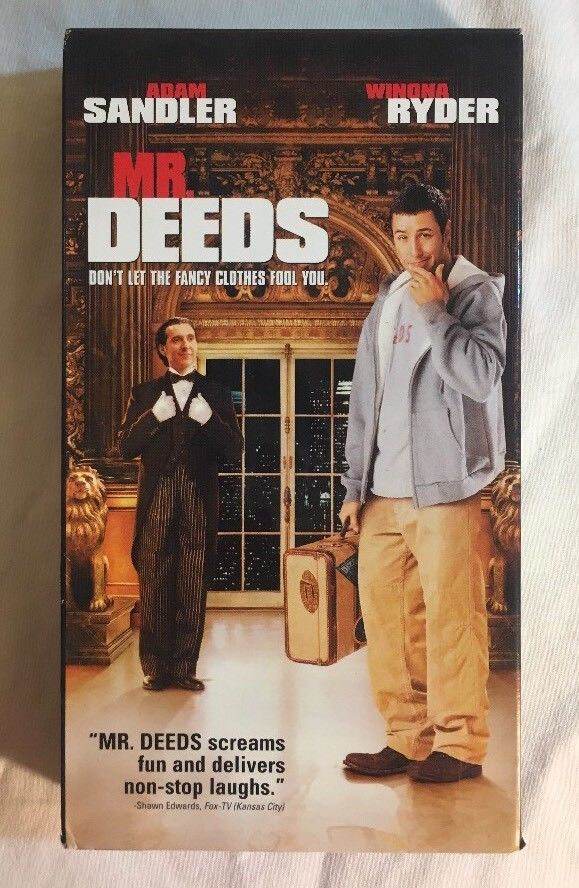 Mr Deeds Vhs 2002 Adam Sandler Winona Ryder John Turturro Comedy Mr Deeds Adam Sandler John Turturro