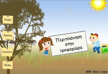 Περιπλάνηση στην Τροφοχώρα: Εκπαιδευτικό Λογισμικό για τη Διατροφή | 21ο Δημοτικό Σχολείο Αθηνών