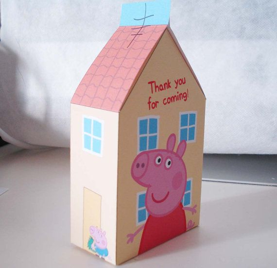 Best images about peppa pig on pinterest favor boxes
