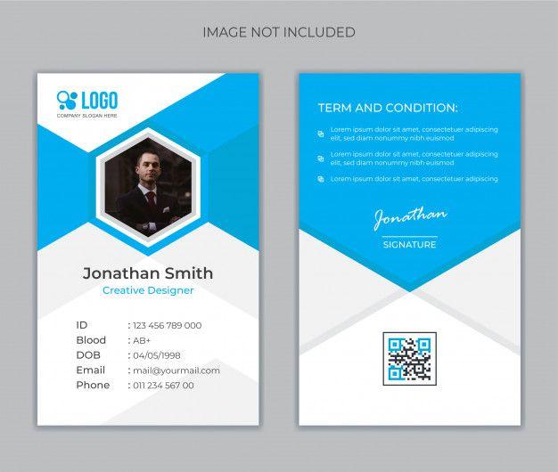Office Id Card Template Premium Vector Premium Vector Freepik Vector School Card Template Office Id Card Template Card Template Cards