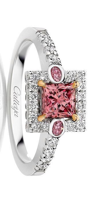 Calleija Jewellers Pink & White Australian Argyle Diamond Ring