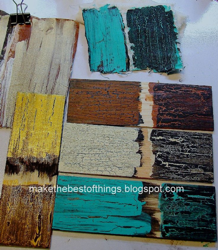 Make The Best of Things: Crackle finish with Elmer's Glue (talks about using glues other than the wood glue)