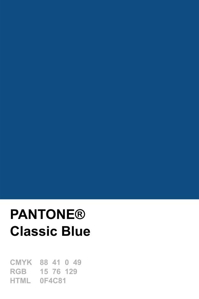 Pantone 2015 Classic Blue