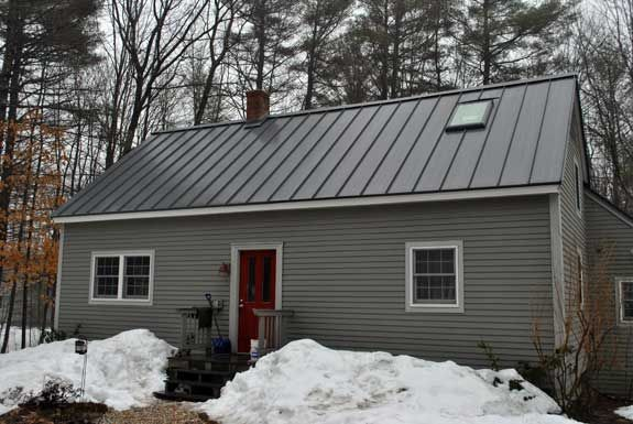 Gray House With Metal Roof Exteriors Metal Roof Houses
