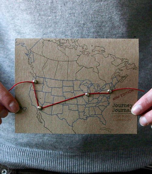 super cute trip map. I need take a picture of the kids holding the map at each campsite w/ the string moved farther along each time showing all the places we slept on our route.