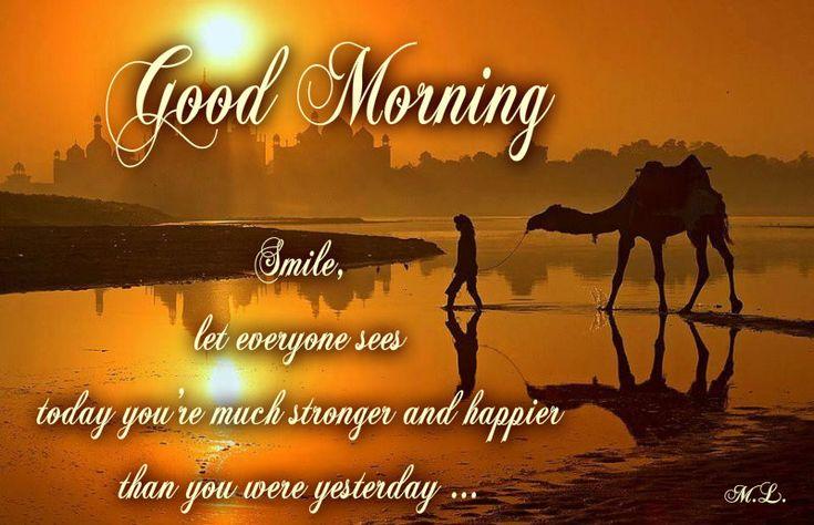 usměj se ,ať každý vidí, že dnes jsi mnohem silnější a šťastnější než jsi byl včera...