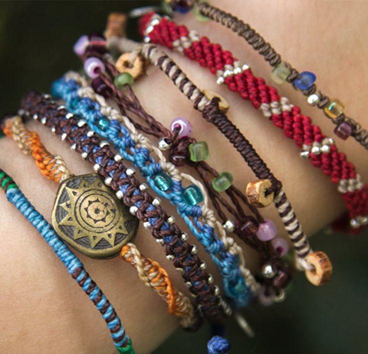 Guatemalan handmade bracelets. Wakami Earth Bracelet #wakami #earthbracelet #armband