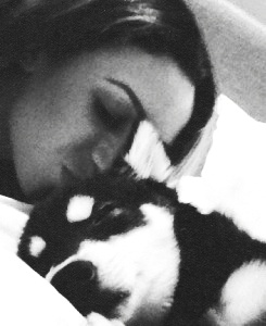 Danielle peazer and her and Liam's dog Loki