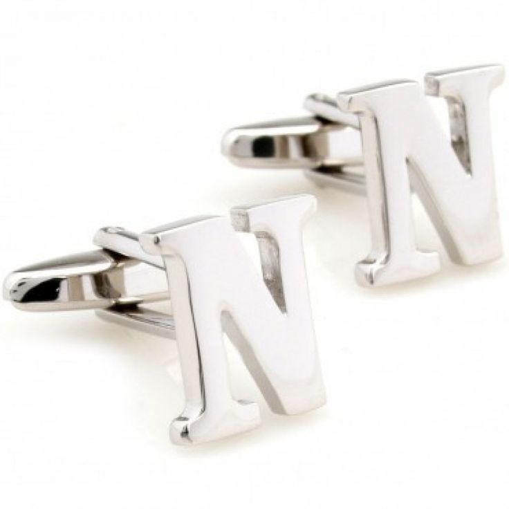 letter n alphabet initial cufflinks shopping the best deals on cuff links