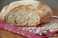 Чесночный хлеб. Домашний хлеб с чесноком, семечками и травами - ароматный, мягкий, с хрустящей корочкой. #edimdoma #cookery #breakfast #recipe