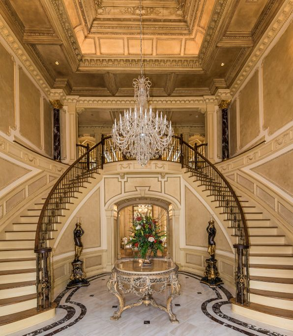Grand Foyer Double Staircase : Best staircases images on pinterest door entry