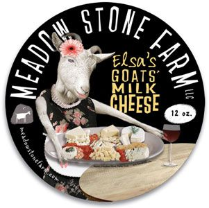 Meadow Stone Farm Elsa's Goats' Milk Cheese label