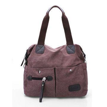 Men Women Pillow Vintage Canvas Bag Shoulder Messenger Handbag - US$24.89