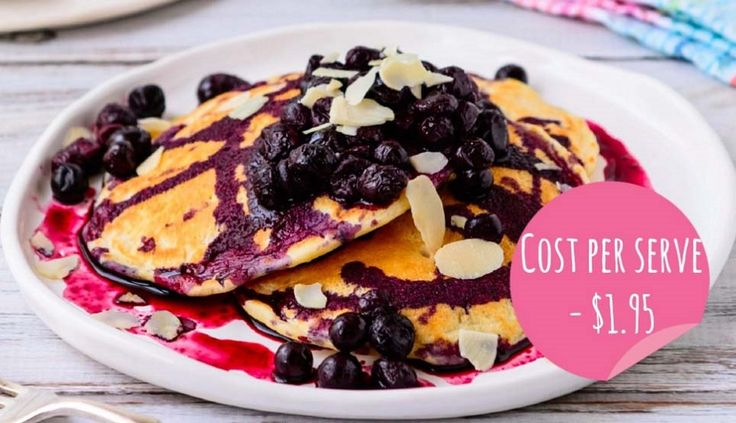 Read our delicious recipe for Blueberry & Vanilla Pancakes, a recipe from The Healthy Mummy, which is a safe way to lose weight after having a baby.