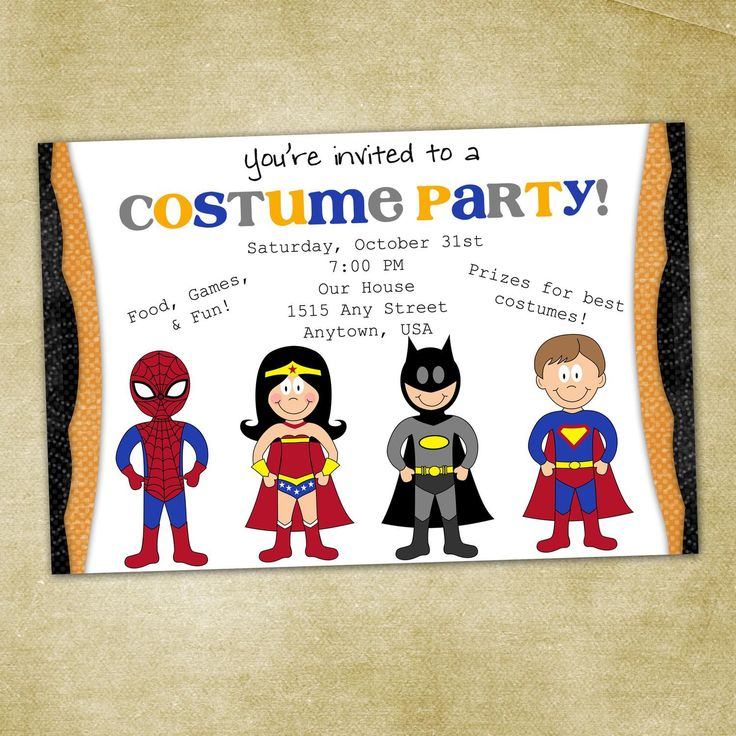 21 best images about Party Invitations – Costume Party Invitations Free Printable