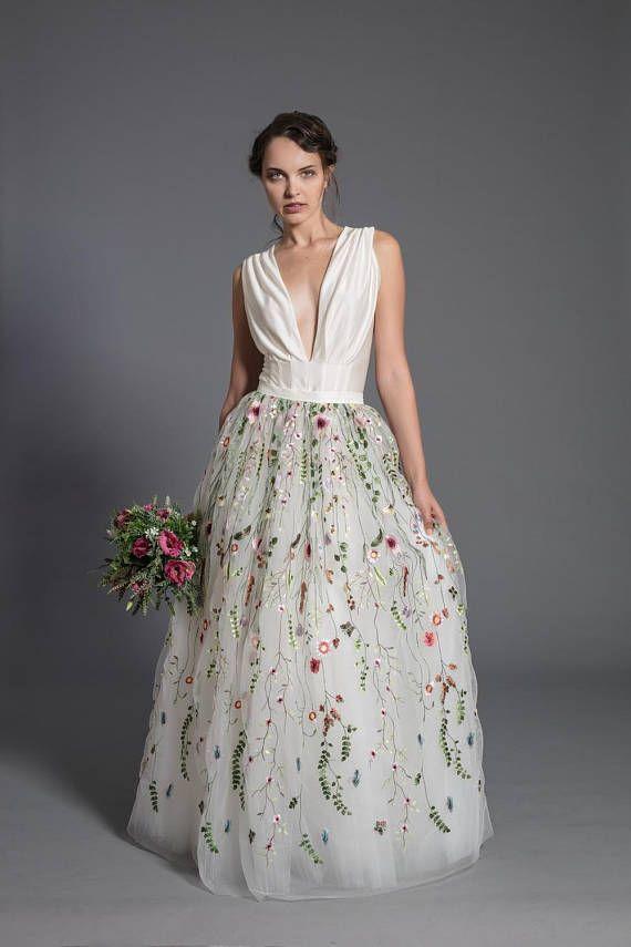 Blumen Hochzeitskleid aus Spitze-Maxi-Rock floral Tutu Rock
