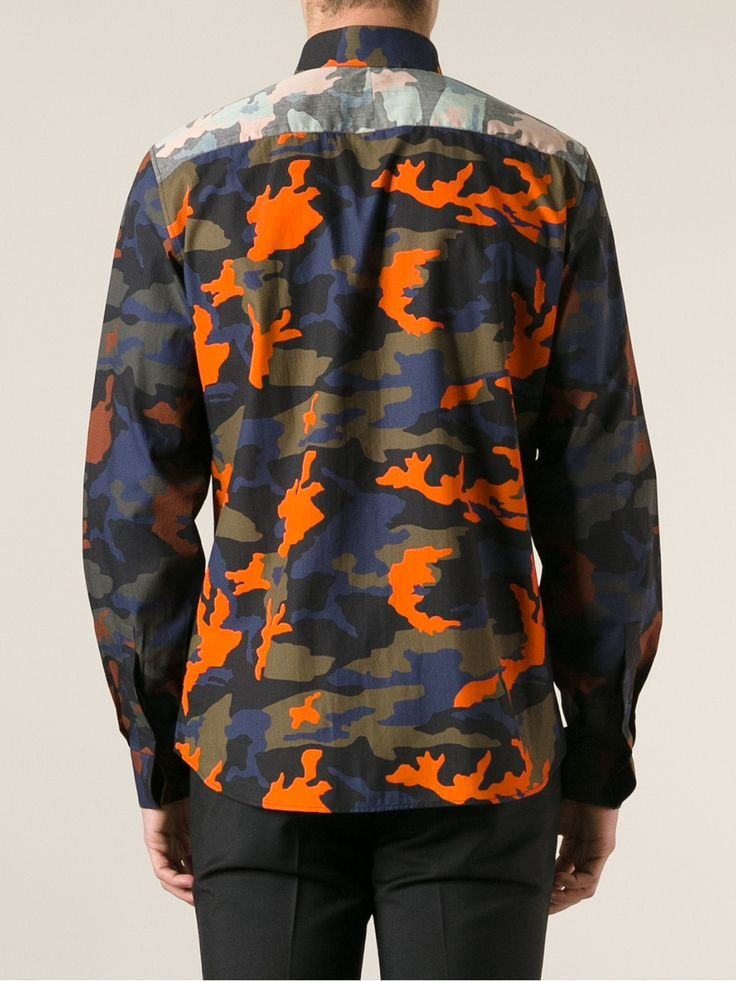 Givenchy Camouflage Print Shirt.